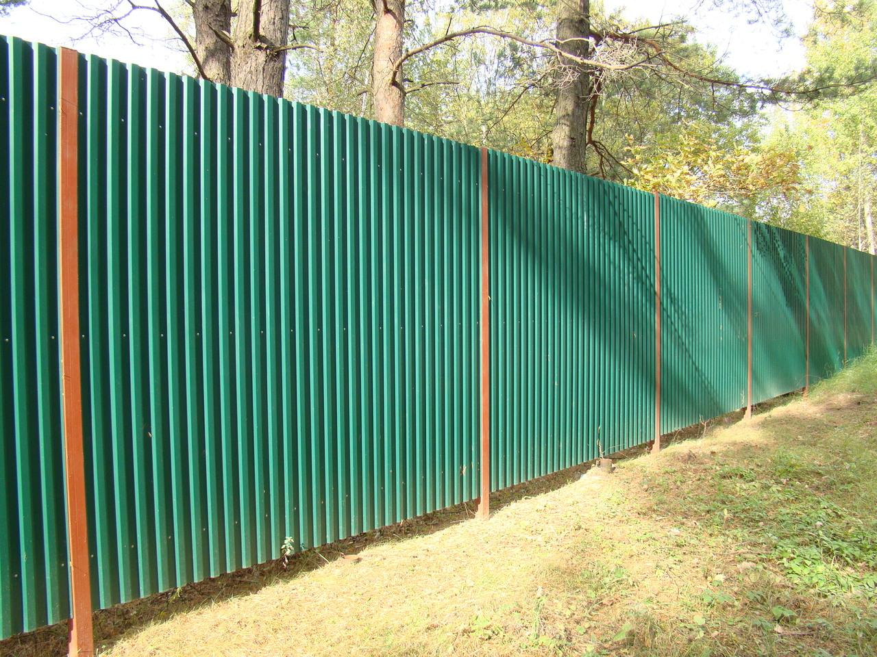Купить забор из профнастила (металлопрофиля) в Минске. Лучшие цены на 72